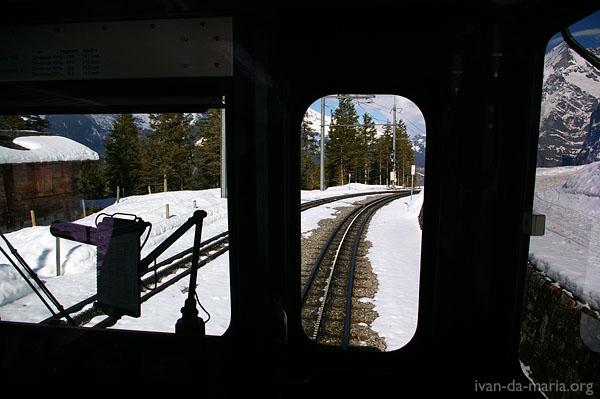 WAB - Wengernalpbahn, Switlerland. Kleine Scheidegg to Grindelwald, Lauterbrunnen to Wengen, Lauterbrunnen to Kleine Scheidegg