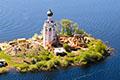 остров Спас-Каменный озеро Кубенское