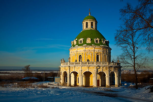 фото усадьба Подмоклово зимой Московская область - Podmoklovo church photos