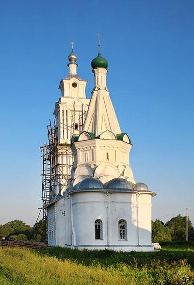 фото шатровая церковь Елизарово Переславский район