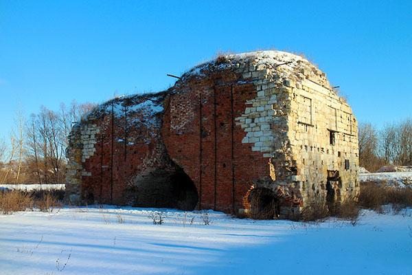Рязанская область Истье доменная печь зимой. Istye winter