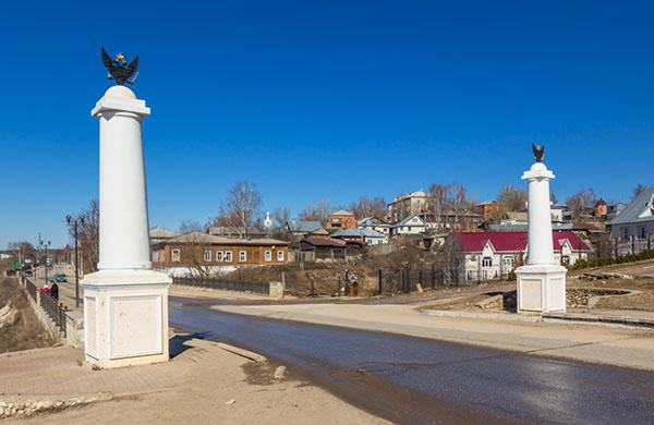 Рязанская область Касимов зимой. Мечеть и минарет Касимов. Kasimov mosque