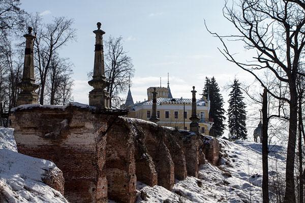 Рязанская область Кирицы усадьба фон Дервиза зимой. Kiritsi winter