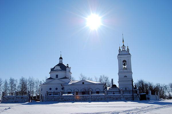 Рязанская область музей Есенина Константиново зимой. Konstantinovo Esenin museum