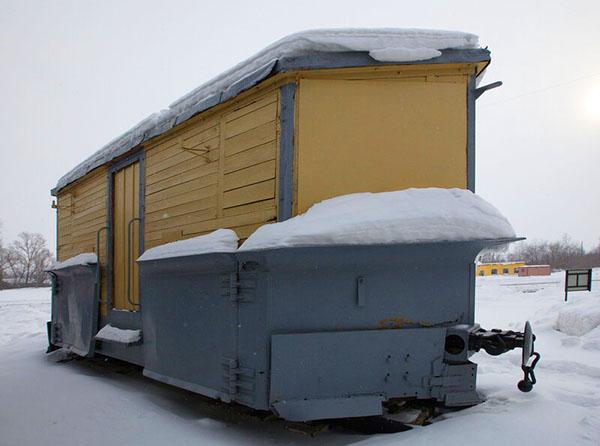 Рязанская область станция Тумская зимой