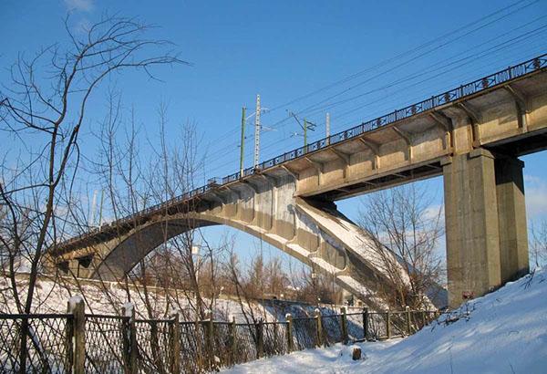 Канал имени Москвы шлюз 8 мост Бачелиса зимой
