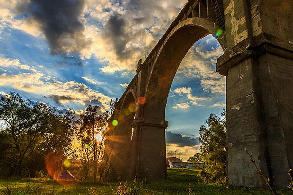 Чувашия Мокринский железнодорожный мост
