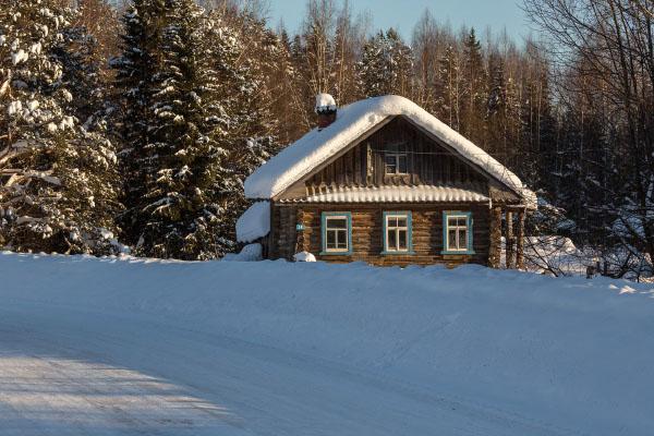 Вологодская область Палема церковь зимой