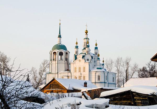 фото Енисейск храм зима