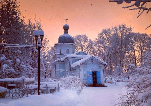 Вельск церковь зима Архангельская область