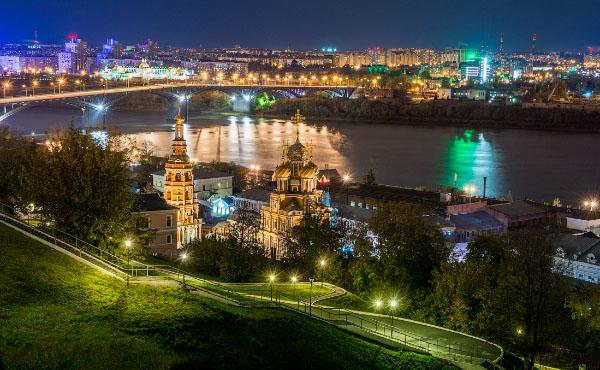 экскурсии Нижний Новгород ночью фото города