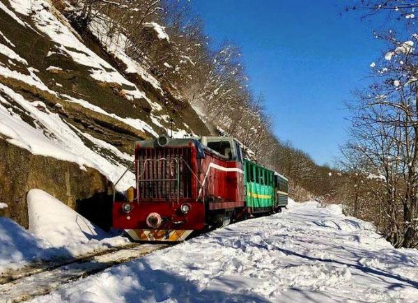 Апшеронская УЖД зимой Краснодарский край
