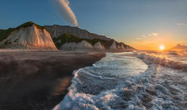 Белые скалы остров Итуруп август