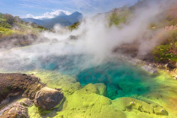 Вулкан Баранского остров Итуруп август