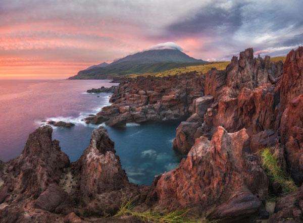 Лавовое плато Янкито остров Итуруп август
